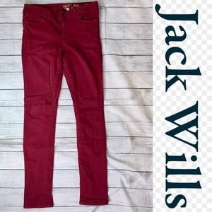Jack Wills 350-4-842 Red Skinny Jeans Size 30x34